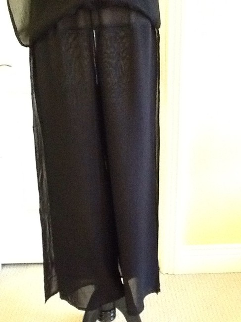 Cache Sheer Dryclean Only Maxi Skirt black Image 3