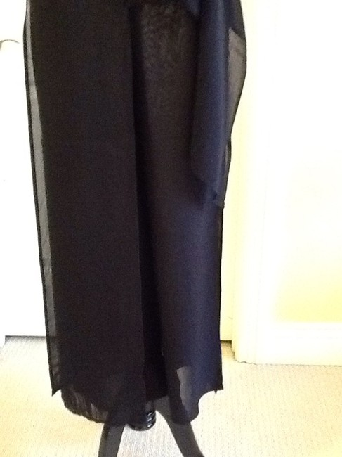 Cache Sheer Dryclean Only Maxi Skirt black Image 5
