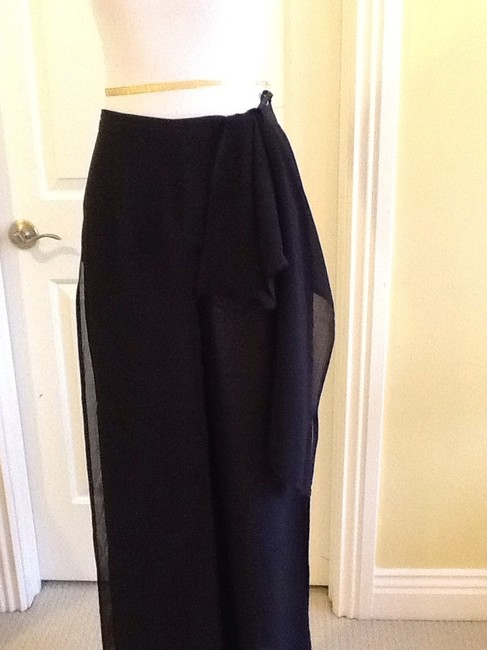 Cache Sheer Dryclean Only Maxi Skirt black Image 6