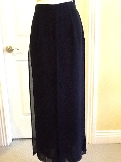 Cache Sheer Dryclean Only Maxi Skirt black Image 8