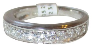rlss STERLING SILVER Simulated Diamond Wedding Band Ring Size 7