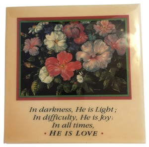 He Is Love Ceramic Love Tile (Mounted Easel) / Wall Plaque [ MissSundayBest Closet ]