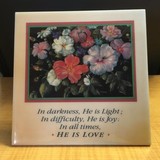 Other He Is Love Ceramic Love Tile (Mounted Easel) / Wall Plaque [ MissSundayBest Closet ]