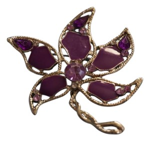 Other Purple Flower Brooch