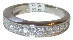 rlss STERLING SILVER Simulated Diamond Wedding Band Ring Size 6