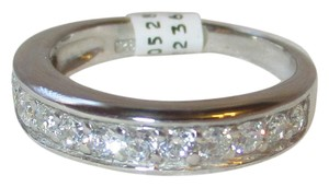 rlss STERLING SILVER Simulated Diamond Wedding Band Ring Size 5