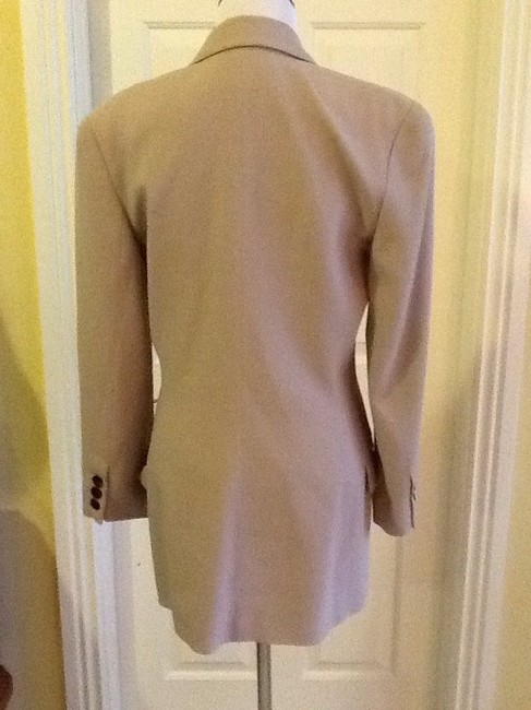 Ellen Tracy Wool Made In Korea Dryclean Only tan beige Blazer Image 3