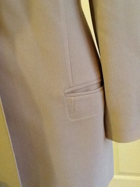 Ellen Tracy Wool Made In Korea Dryclean Only tan beige Blazer Image 5