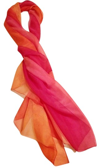 Unknown Vintage Chiffon Scarf in Sunset Colors
