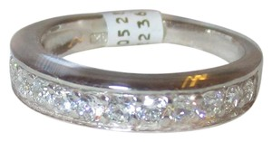 rlss STERLING SILVER Simulated Diamond Wedding Band Ring Size 8