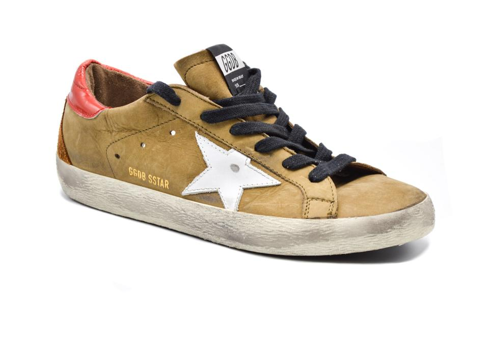 purchase cheap a908a 2bf4d Golden Goose Deluxe Brand Brown Distressed Tan Superstar 40 / Sneakers Size  US 10 Regular (M, B) 49% off retail