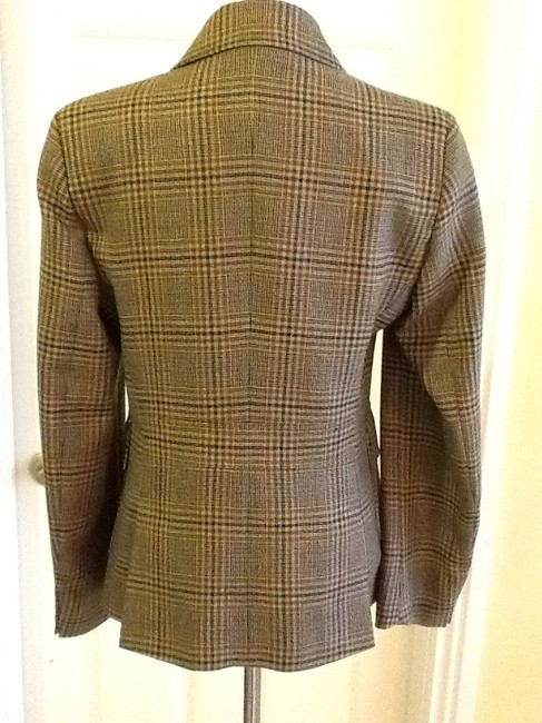 costume dublin Pure Wool Dryclean Only Made In Ireland green plaid Blazer Image 1