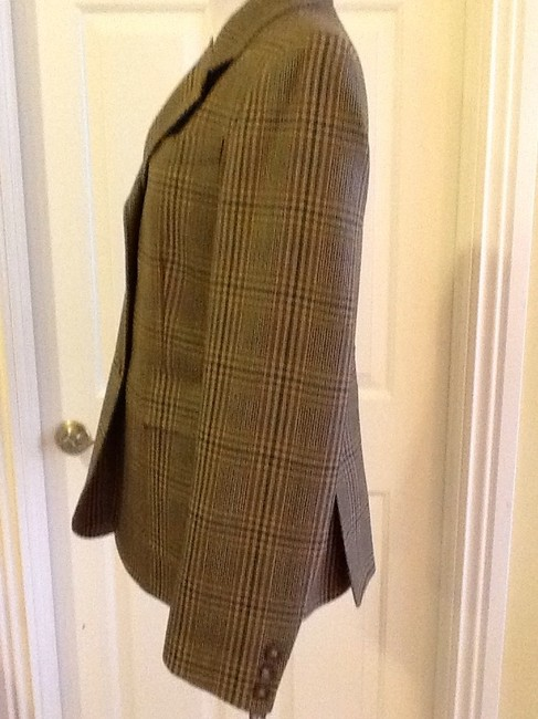 costume dublin Pure Wool Dryclean Only Made In Ireland green plaid Blazer Image 2