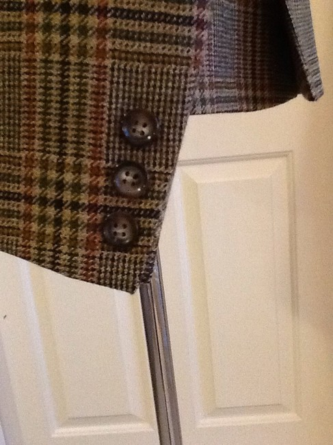 costume dublin Pure Wool Dryclean Only Made In Ireland green plaid Blazer Image 3