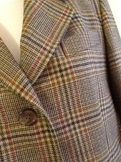 costume dublin Pure Wool Dryclean Only Made In Ireland green plaid Blazer Image 4