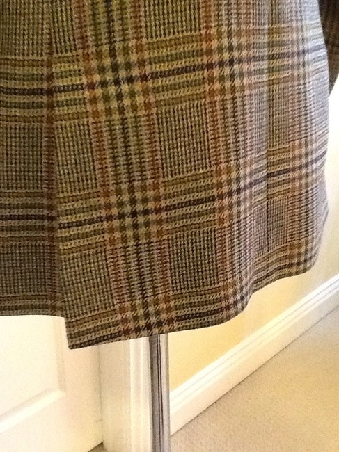 costume dublin Pure Wool Dryclean Only Made In Ireland green plaid Blazer Image 6
