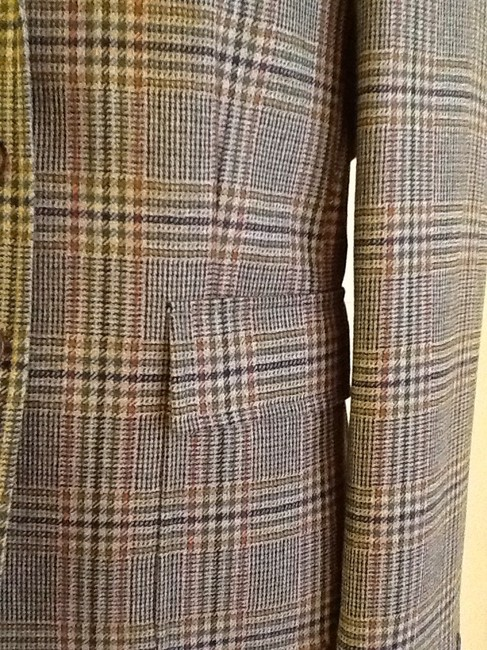 costume dublin Pure Wool Dryclean Only Made In Ireland green plaid Blazer Image 7