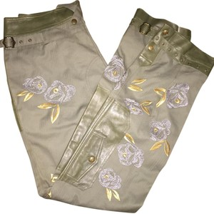 Dior Straight Pants Green and gold