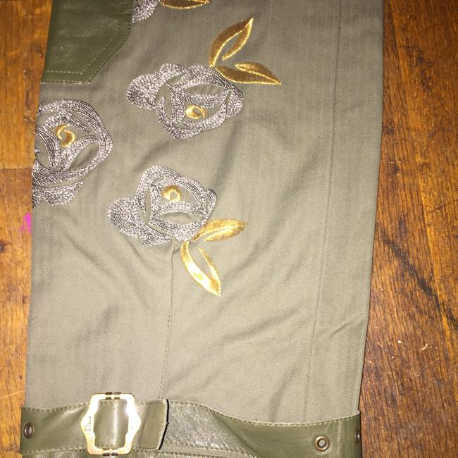 Dior Straight Pants Green and gold Image 2