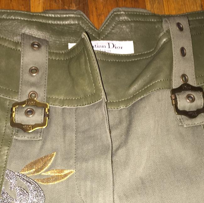 Dior Straight Pants Green and gold Image 3