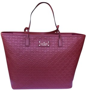 Kate Spade Leather Margareta Tote in Red TRAIN CARED