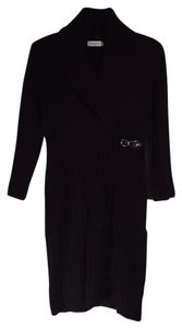 Calvin Klein short dress Winter Belted Sweater Cable Knit Fitted on Tradesy