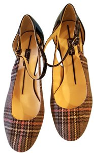 Sam & Libby Leather Sole Upper Multicolor fabric Pumps