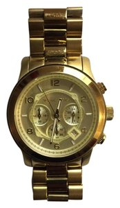 Michael Kors Runway Oversized Gold-Tone Watch