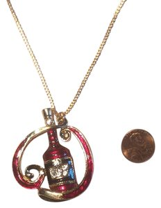 Betsey Johnson Betsey Johnson Wine Bottle Charm Necklace