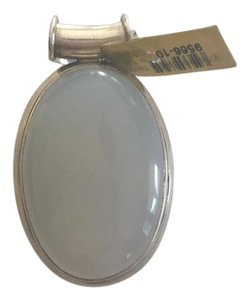 Steal - Sterling Silver chalcedony Pendant/ Necklace
