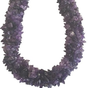 Other Gorgeous Statement Silver Amethyst Necklace