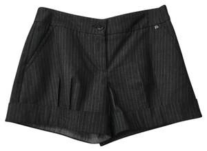Trina Turk Dress Shorts Charcoal pin stripe