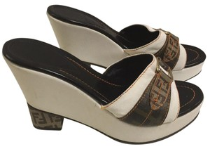 Fendi Brown white Wedges
