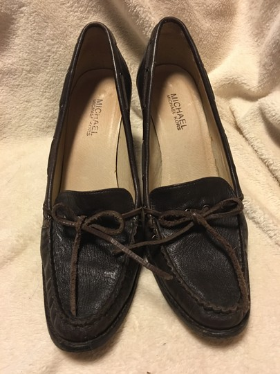 Michael Kors Leather Tassels Slip On Brown Pumps Image 1