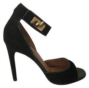 Givenchy Shark Lock Sandal Heel BLACK Sandals