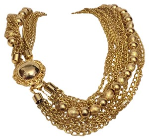 Marvella Marvella Elegant Vintage Multi Strand Chain Necklace Collar
