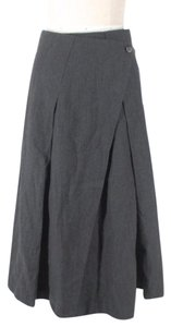 Masnada Unique Wool Wrap Skirt Gray
