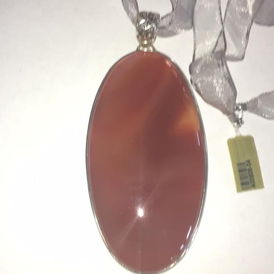 Other Statement Agate Sterling Silver Ribbon Necklace Image 3