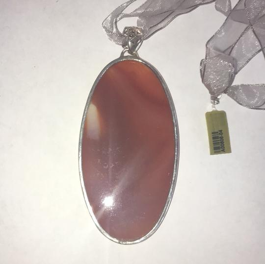 Other Statement Agate Sterling Silver Ribbon Necklace Image 4