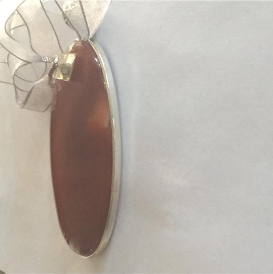 Other Statement Agate Sterling Silver Ribbon Necklace Image 8
