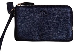 Coach Wristlet in Metallic Midnight