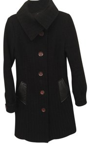 Mackage Wool Leather Winter Dress Coat