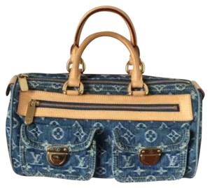 Louis Vuitton Satchel in Blue Denim Neo Speedy Boston