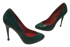 Charles Jourdan Teal patent all leather stiletto heel Pumps