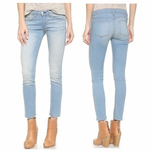 Rag & Bone Vintage Lightweight Stretchy Capri Capri/Cropped Denim-Light Wash