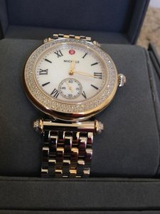 Michele Nwt women's caber two tone gold and silver watch $2200