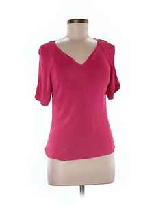 Carolina Herrera V-neck Top Pink