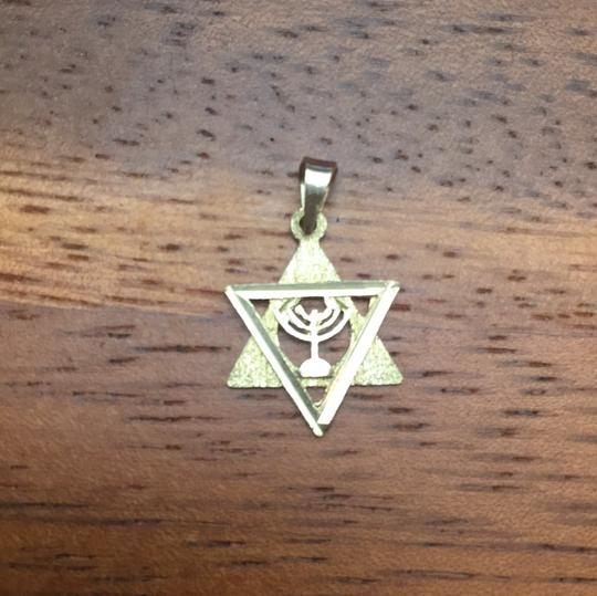 14k Gold Star of David Charm Image 1