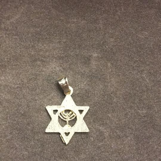14k Gold Star of David Charm Image 4