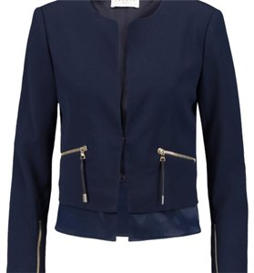Sandro Jacket Work Office Classic Contemporary Blue Blazer